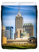 Indianapolis Cityscape Downtown City Buildings Duvet Cover by Paul Velgos