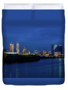 Indianapolis State Capitol And Skyline Duvet Cover