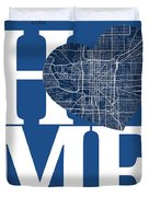 Indianapolis Street Map Home Heart - Indianapolis Indiana Road M Duvet Cover