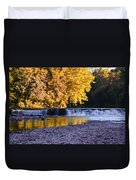 Indianhead Dam - Perkiomen Creek Duvet Cover