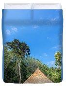 Indigenous Hut Duvet Cover