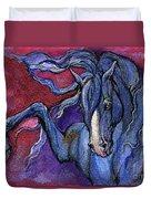 Indigo Horse 1 Duvet Cover