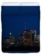 Indigo Sky And Toronto Skyline Duvet Cover