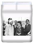 Indira Gandhi At Jfk Airport Duvet Cover