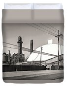 Industrial Art 2 Sepia Duvet Cover