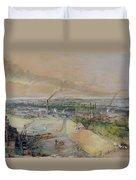 Industrial Landscape In The Blanzy Coal Field Duvet Cover by Ignace Francois Bonhomme