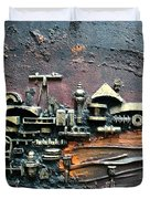 Industrial Port-part 1 By Rafi Talby Duvet Cover