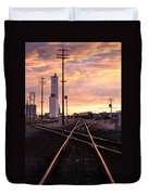 Industrial Rail Yard Duvet Cover