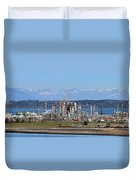 Industrial Refinery Duvet Cover