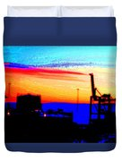 admire an Industrial sunset, because culture is also nature  Duvet Cover