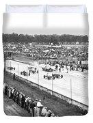Indy 500 Auto Race Duvet Cover