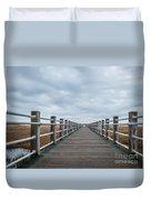 Infinite Boardwalk Duvet Cover