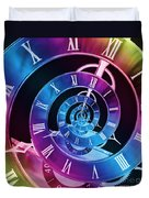 Infinite Time Rainbow 1 Duvet Cover