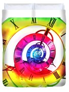 Infinite Time Rainbow 3 Duvet Cover