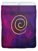Infinity - Deep Purple With Gold Duvet Cover