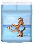 Infinity Pool Nude Duvet Cover