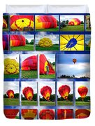 Inflation Hot Air Balloon Duvet Cover