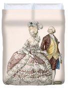Informal Wedding Dress, Engraved Duvet Cover