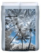 Infrared Palm Trees On The Coast Duvet Cover
