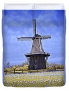 Infrared Photo Of The Dezwaan Dutch Windmill On Windmill Island In Holland Michigan Duvet Cover