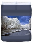 Infrared Road Duvet Cover by Anthony Sacco