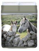 Inishmore Horses Duvet Cover