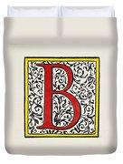 Initial 'b', C1600 Duvet Cover
