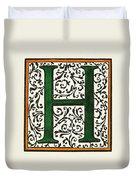 Initial 'h', C1600 Duvet Cover