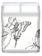 Inked Swallowtail Duvet Cover