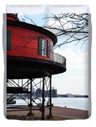 Inner Harbor Lighthouse - Baltimore Duvet Cover