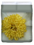 Inner Section Of A White Peony Duvet Cover