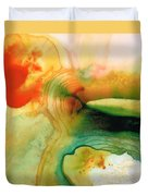 Inner Strength - Abstract Painting By Sharon Cummings Duvet Cover by Sharon Cummings