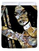 Inner Strength Steampunk Portrait  Duvet Cover