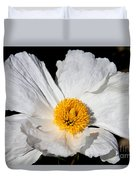 Innocent Krinkle - White Peony By Diana Sainz Duvet Cover