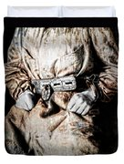 Insane Person In Restraints Duvet Cover