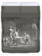 Inside An Egyptian Bathhouse, C.1820s Duvet Cover