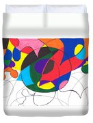 Inside And Outside The Circle Duvet Cover