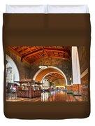 Inside Los Angeles Union Station Duvet Cover