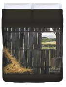 Barn -inside Looking Out - Summer Duvet Cover
