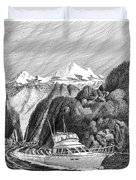 Cruising The Inside Passage Duvet Cover