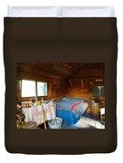 Inside Savage River Cabin In Denali Np-ak   Duvet Cover