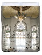 Inside Sheikh Zayed Grand Mosque - Abu Dhabi Duvet Cover