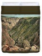 Inside The Black Canyon Duvet Cover