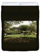 Inside The Garden Of 5 Senses In Delhi Duvet Cover