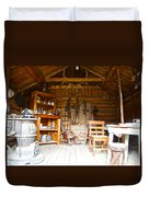 Inside The Real Sam Mcgee's Cabin In Macbride Museum In Whitehorse-yk Duvet Cover