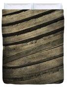 Inside The Wooden Canoe Duvet Cover