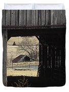 Barn - Kentucky - Inside Treasure Duvet Cover