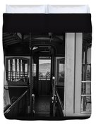Inside Trolley 28 Black And White Duvet Cover