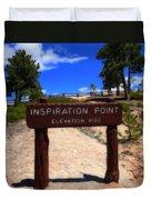 Inspiration Point Duvet Cover