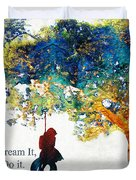 Inspirational Art - You Can Do It - Sharon Cummings Duvet Cover